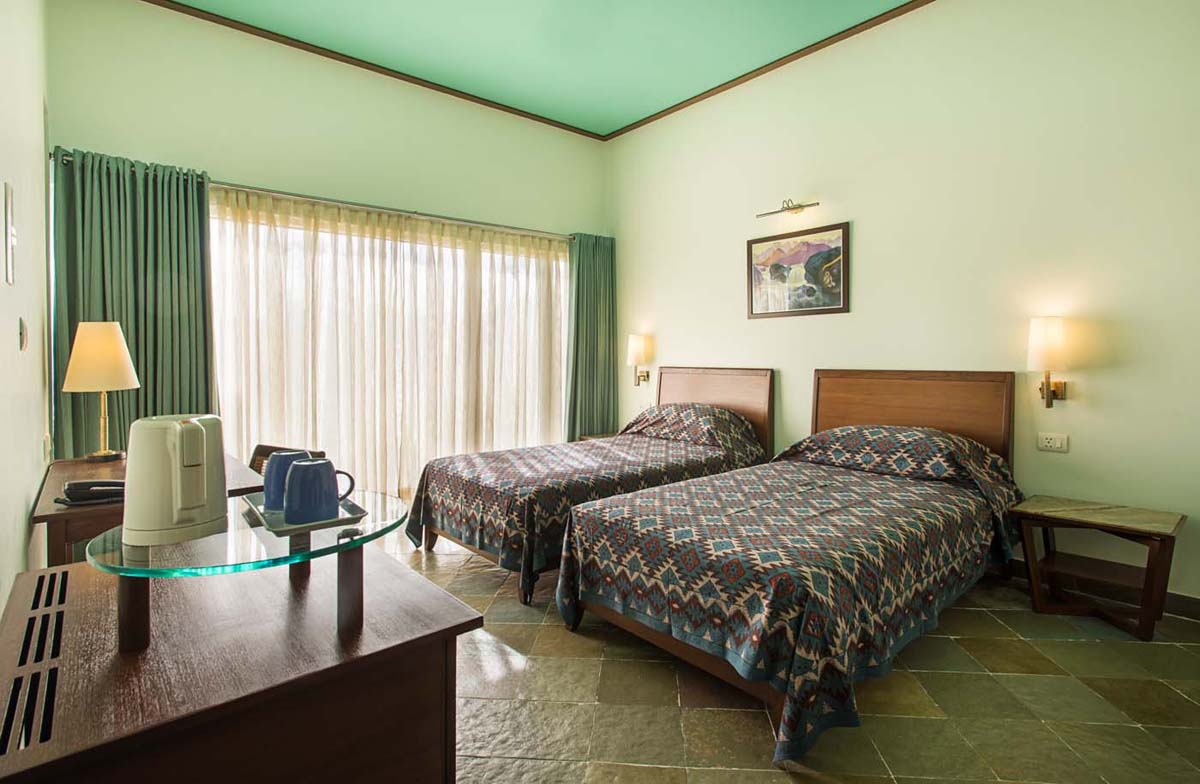 Twin bed deluxe room in Dera Masuda, Pushkar, Ajmer, Rajasthan