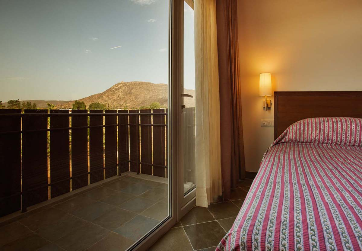 View from the room of Deluxe Duplex Suite - Dera Masuda, Pushkar, Ajmer, Rajasthan