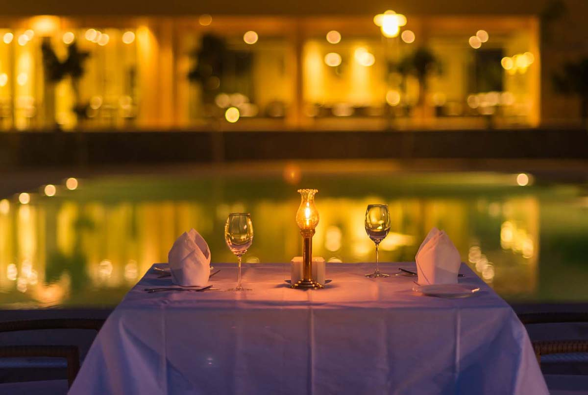 Candle light dinner in Dera Masuda, Pushkar, Ajmer, Rajasthan